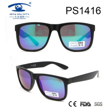 Fashion Design Large Frame Plastic Sunglasses (PS1416)